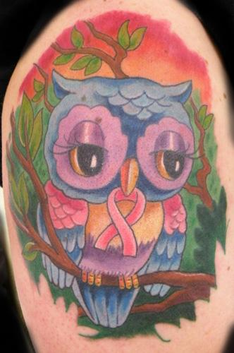 Mathew Hays - owl for breast cancer